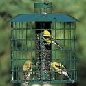 caged squirrel control bird feeder