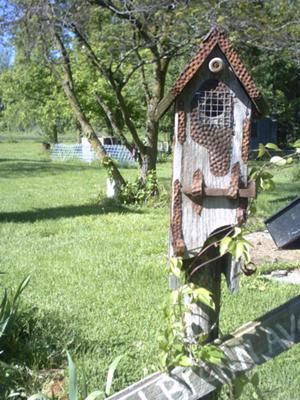 Blue Bird House out of Barnwood