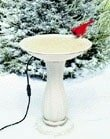 Summer And Winter Birdbath
