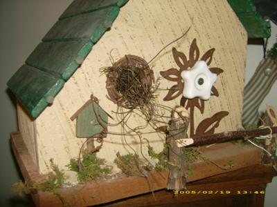 Yellow Cottage Birdhouse